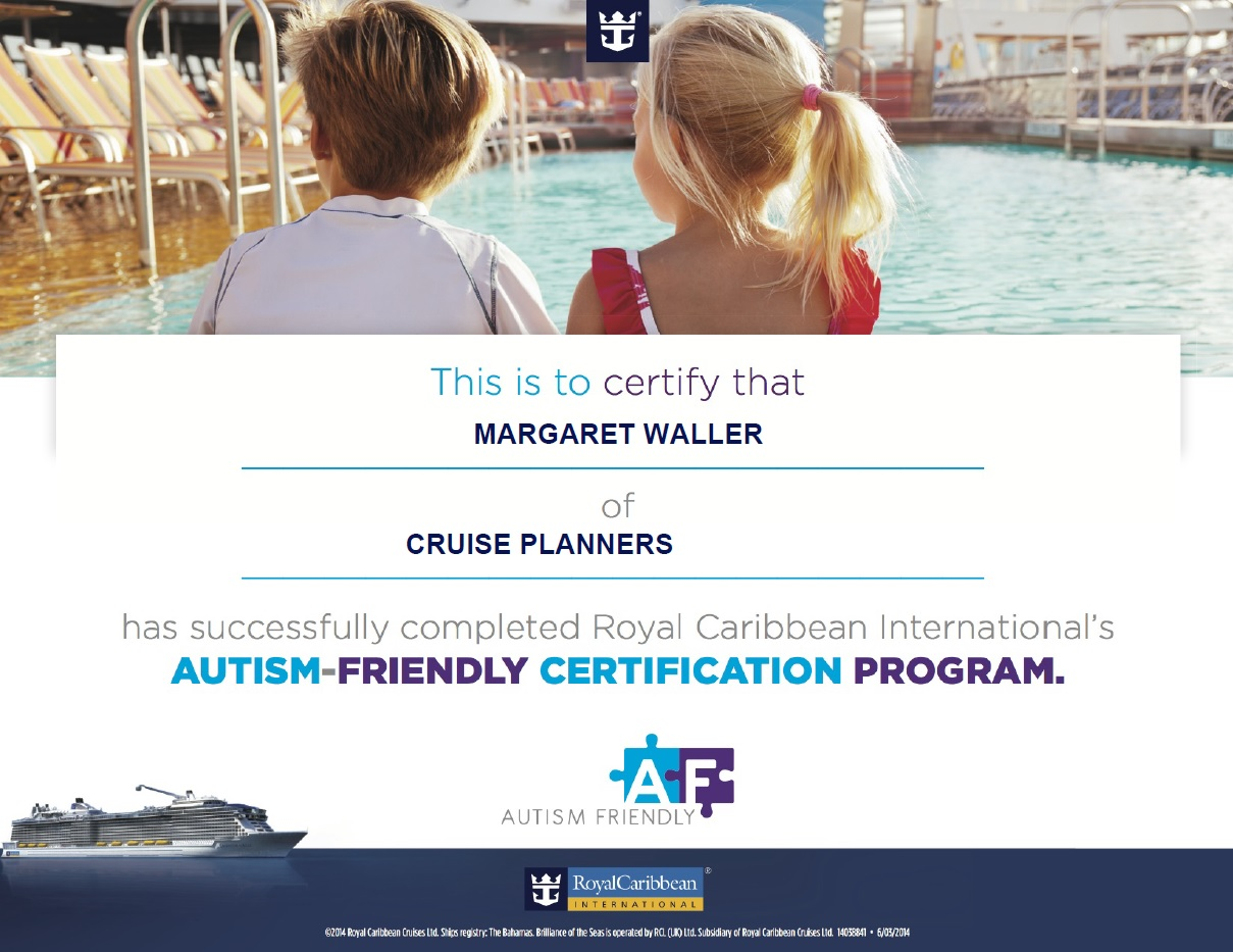 Gerry and margaret waller certification royal caribbean autism rccl autism certification 1betcityfo Gallery