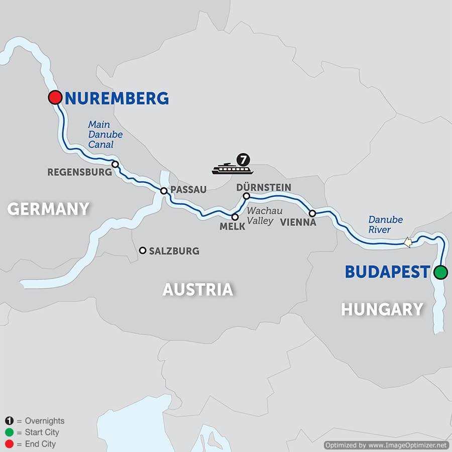 Barb Cline ECC JULY DANUBE RIVER BOAT CRUISE - Danube river location on world map